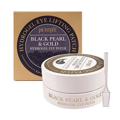 Petitfee Black Pearl & Gold Hydrogel Eye Patch, 60 шт.