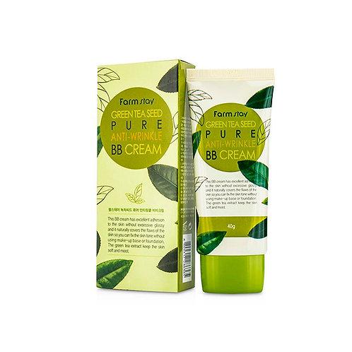 Антивозрастной BB крем FarmStay Green Tea Seed Pure Anti-wrinkle BB Cream 40 мл.