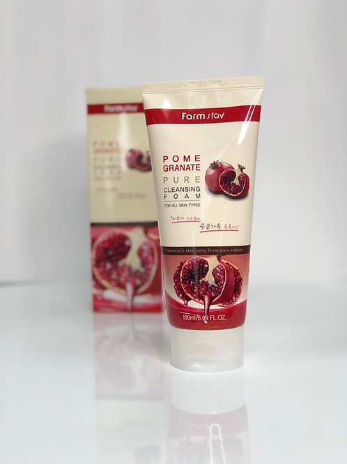 Гранатовая пенка для умывания FarmStay Pomegranate Pure Cleansing Foam 180 мл.
