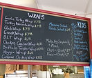Luke's Deli Wraps Menu board