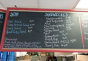 Luke's Deli Sandwich Menu Board