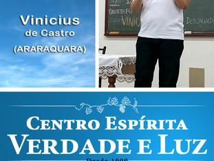 Palestra Pública com Vinicius de Castro -  06/06/2018. Araraquara.