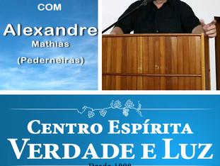 Palestra pública com  Alexandre Mathias - Pederneiras - 07/10/2018.