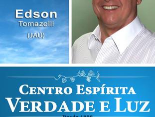 Nesta Quarta Feira, 19/12/2018 palestra pública com Edson Tomazelli.