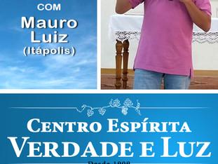 Palestra Pública com Mauro Luiz - Itápolis Domingo 01/07/2018 às 9 h.