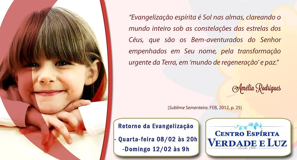 Atenção!!Retorno das Aulas de Evangelização!!