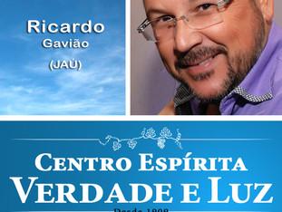 Palestra Pública com Ricardo Gavião. Quarta feira. 18/04/2018 às 20 h -   Tema: LEI DE AMOR.