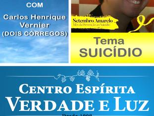 Palestra Pública com Carlos Henrique - Tema Suicídio - 20/09/2017