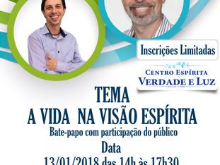 Dia 13/01/2018 - Sábado - SEMINÁRIO COM TATTO SAVI E EDGARD MIGUEL.