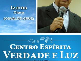 Palestra Pública com Izais Claro - Osvaldo   Cruz. Dia 25/04/2018. Quarta feira.