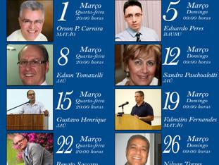 Programe-se! Palestras do mês de Março no Centro Espírita Verdade e Luz!