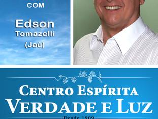 Palestra Pública com Edson Tomazelli. Domingo dia 26/11/2017 às 9 h.
