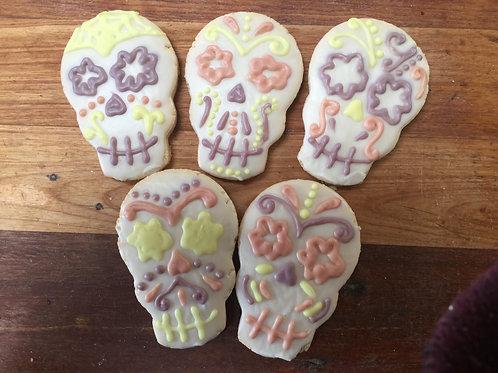 Sugar Skull Cookies, (1 each) Organic