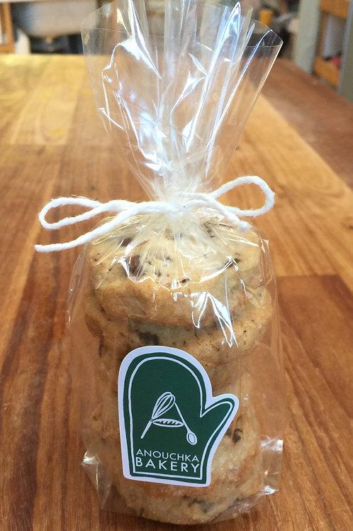 Salted Chocolate Chunk Cookies (6ea) Organic