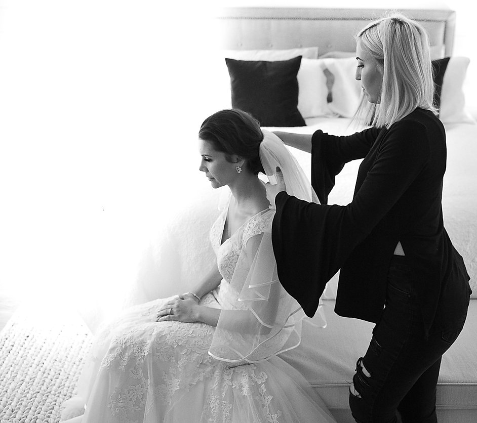 HairByCristina in action doing bridal Hair
