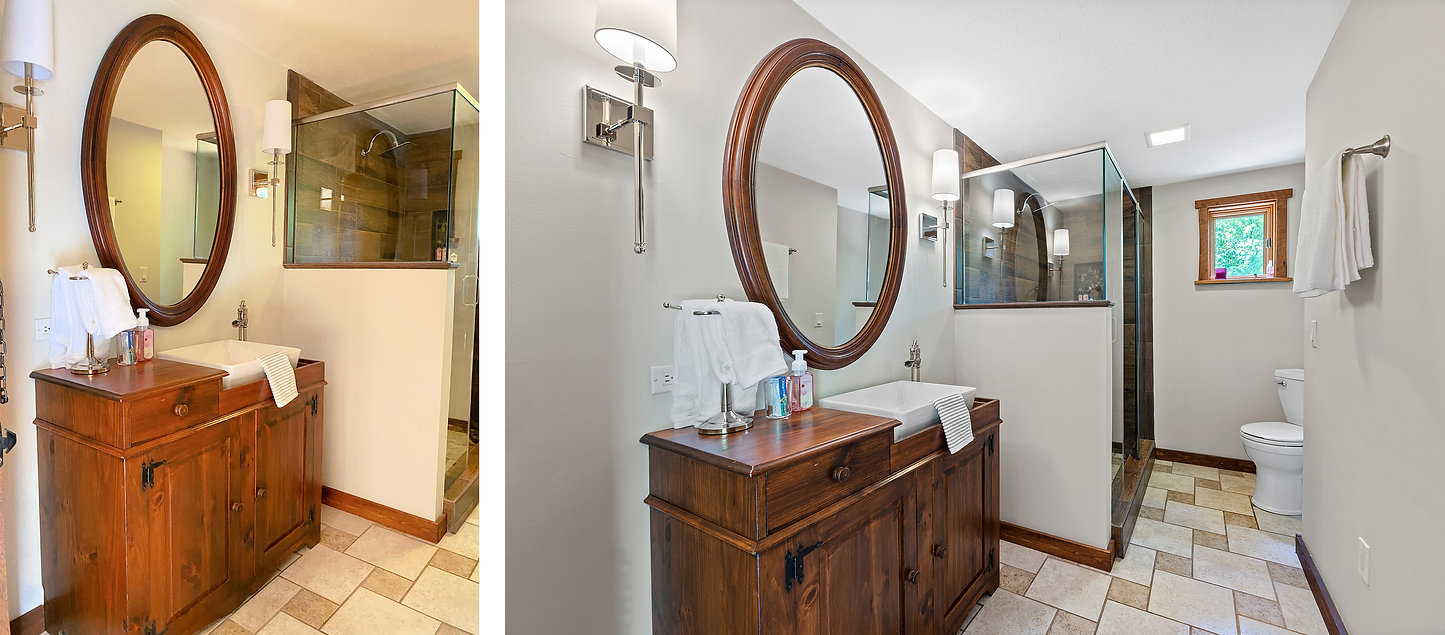 bathroom sink toilet shower mint photo