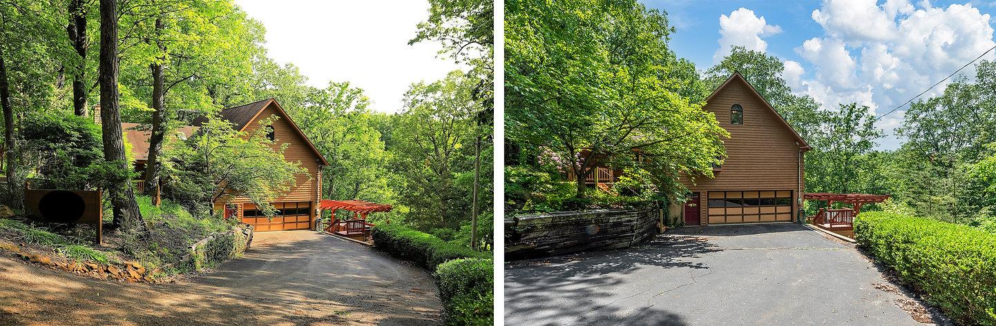 cabin exterior wood deck outdoor mint photo