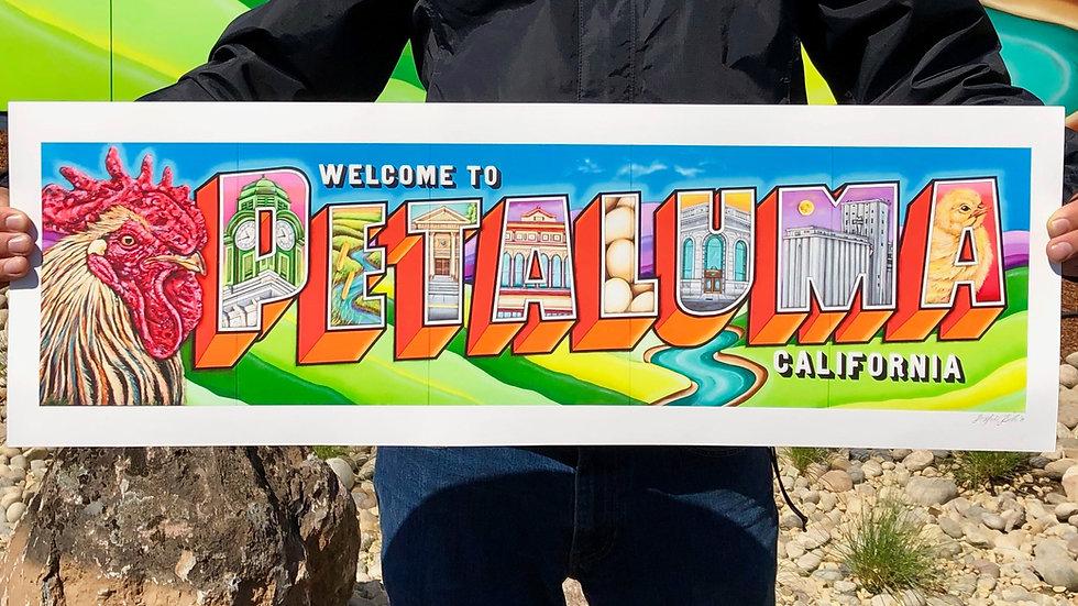"Welcome To Petaluma- Fine Art Print (30""x10"")"