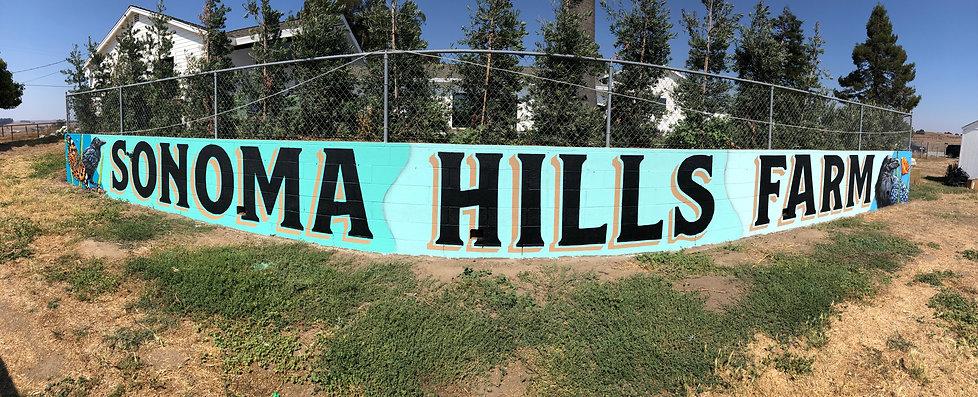 Sonoma Hills Farm Sign