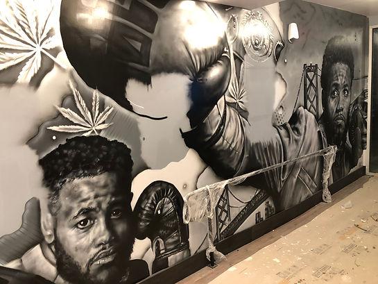 Authentic 415 San Francisco Mural