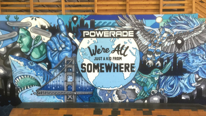Powerade Murals at Woodward Camps