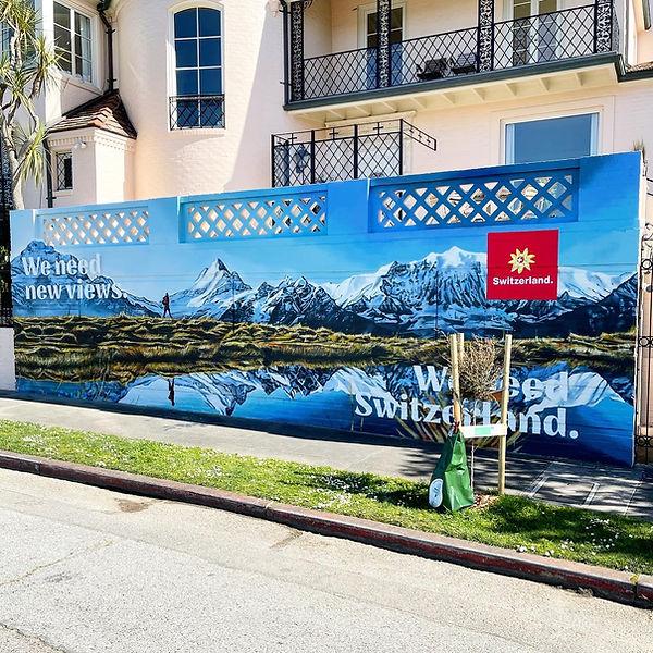 San Francisco Switzerland Mural
