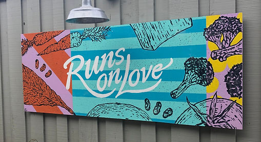 Amys drive thru mural