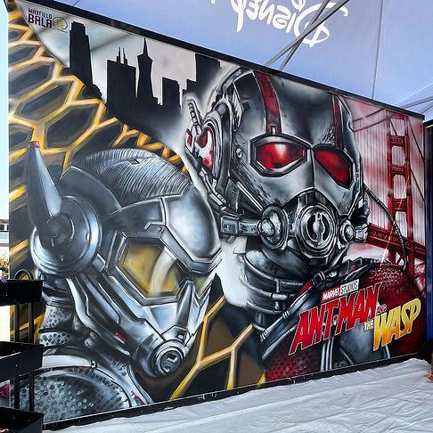 Marvel Superhero Mural