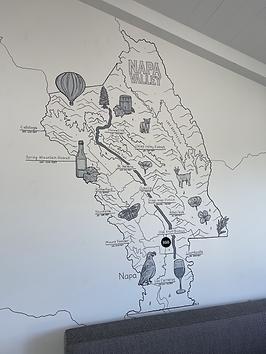 Napa County Map Mural