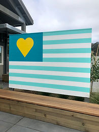 Amy's Drive Thru Flag Sign Painting