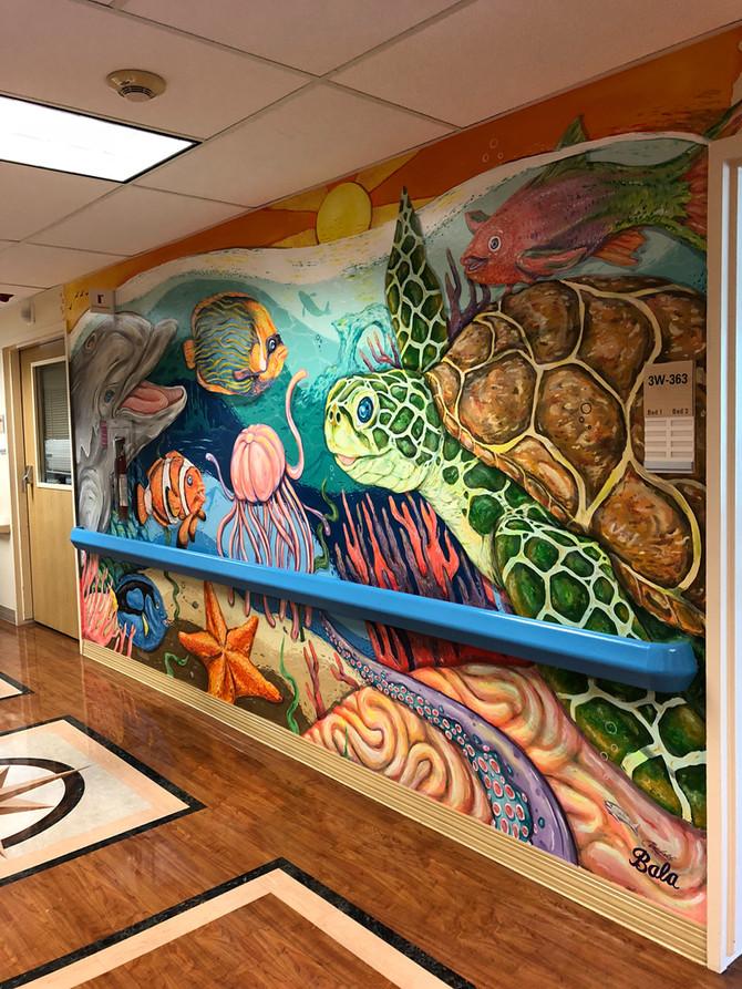 Mural for UCSF Children's Hospital at Santa Rosa Memorial Hospital.
