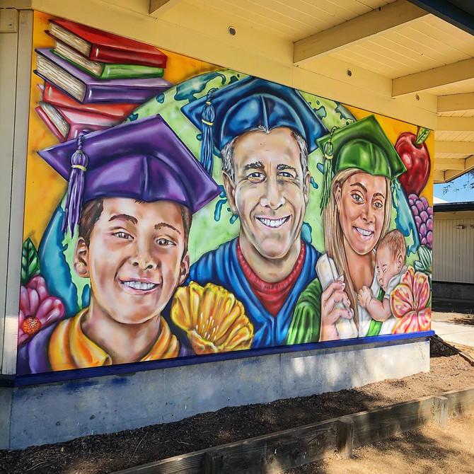 Mural for Petaluma Adult school