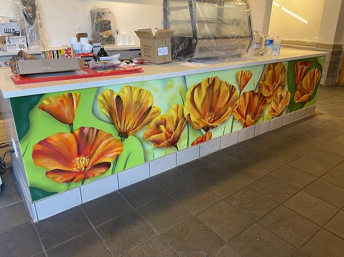 Golden Poppy Mural