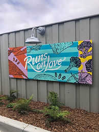 Runs on Love Mural Painting
