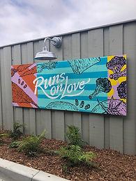 Runs on Love Mural Painting