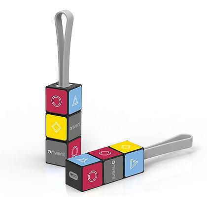 Rubik's Cube Charging Keychain