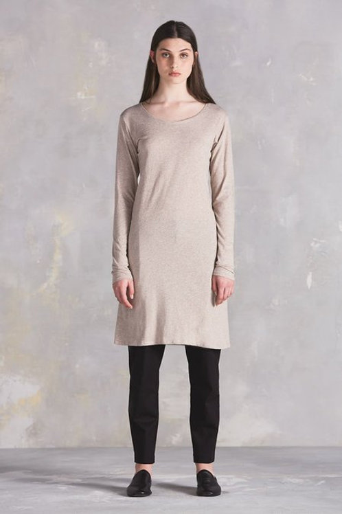 Oatmeal Building Block Long Sleeve Dress
