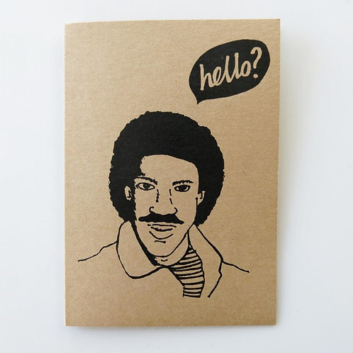 Greeting Card - Hello?