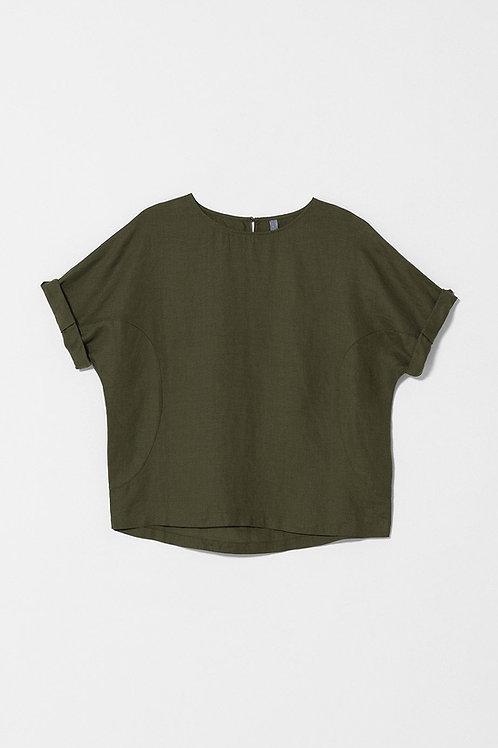 Black (shown in Moss) Linen Box Top