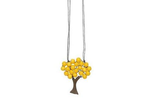 Yellow Tree Necklace