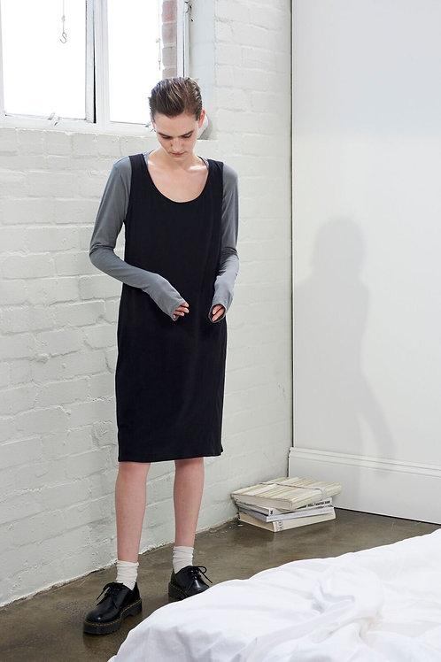 Black Building Block Singlet Dress