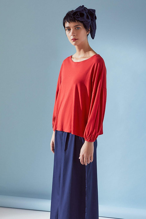 Poppy Gather Sleeve Top