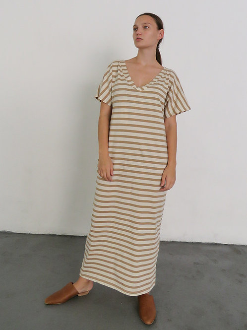 Tan+Natural Building Block Reversible Dress