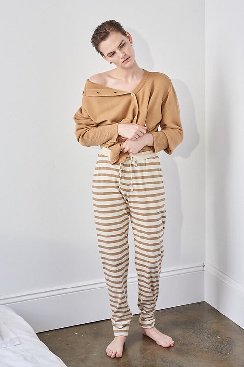 Tan+Natural Stripe Building Block Pant