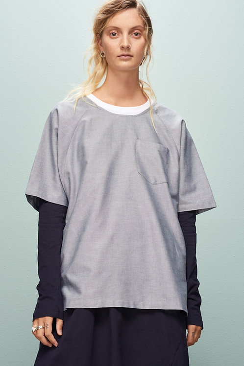 Chambray Link Top