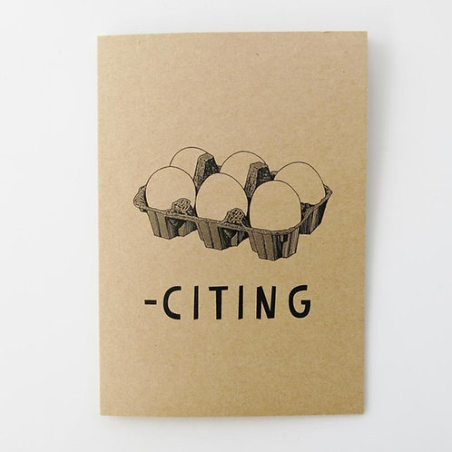 Greeting Card - Egg-citing