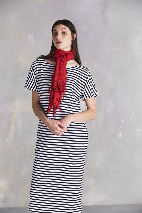 Blue+White Building Block Reversible Dress