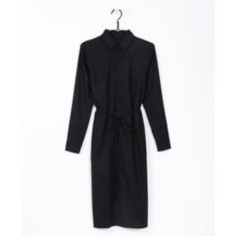 Black Endless Shirt Dress