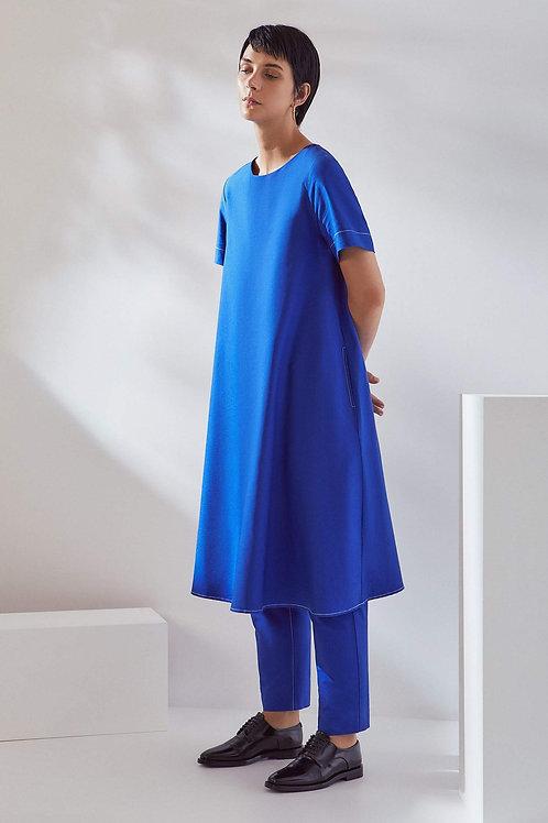 Cobalt Triangle Dress
