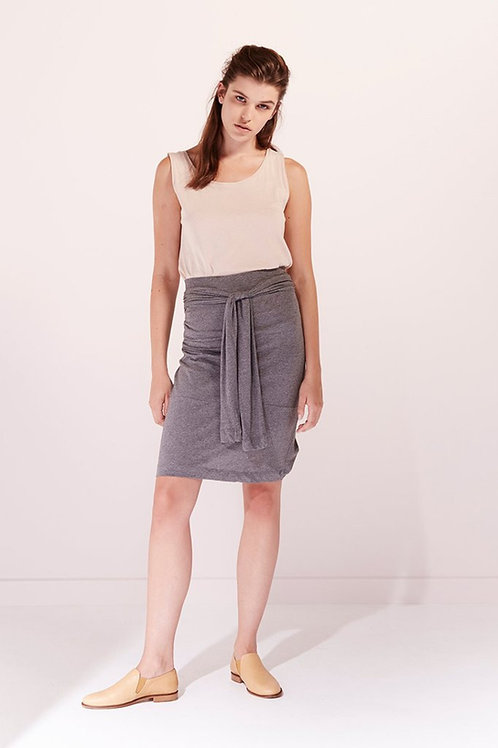 Dark Grey Marle Building Block Function Piece - can be worn as a skirt or top